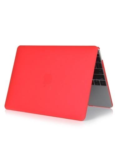 """Mcstorey MacBook Pro A1278 13.3"""" Kılıf Kapak Koruyucu Ruberized Hard Incase Mat Kırmızı"""